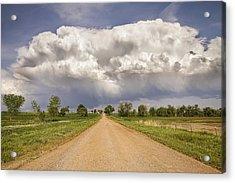 Colorado Country Road Stormin Skies Acrylic Print by James BO  Insogna