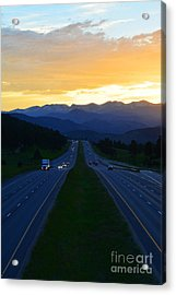 Acrylic Print featuring the photograph Colorado Drive by Kate Avery