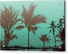 Colorful Background With Silhouette Of Acrylic Print by Romas photo