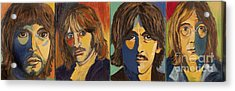 Acrylic Print featuring the painting Colorful Beatles by Jeanne Forsythe