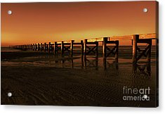 Acrylic Print featuring the photograph Colorful Pier by Maddalena McDonald