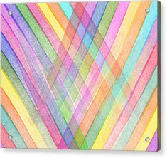 Colorful Stripes Acrylic Print by Aged Pixel