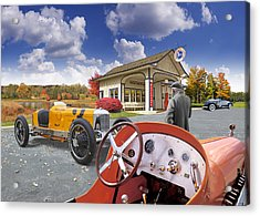 Colors Of Autumn Vintage Standard Oil Station Acrylic Print