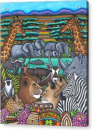 Colours Of Africa Acrylic Print