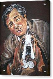 Columbo And Dog Acrylic Print