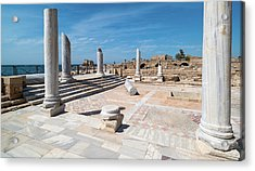 Columns In Archaeological Site Acrylic Print