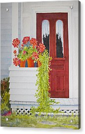 Come On In Acrylic Print by Mary Ellen Mueller Legault