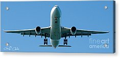 Commercial Aircraft At Sydney Airport Acrylic Print
