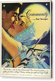 Community Cutlery  1952  1950s Usa Acrylic Print by The Advertising Archives