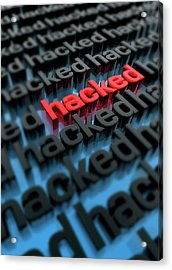 Computer Hacking Acrylic Print by Victor Habbick Visions