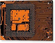 Computer Motherboard Acrylic Print by Antonio Romero