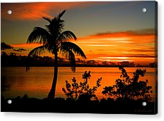 Conch Key Bay Sunset Acrylic Print