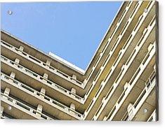 Concrete Building Acrylic Print by Tom Gowanlock