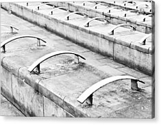 Concrete Seating Acrylic Print by Tom Gowanlock