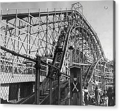 Coney Island - Cyclone Roller Coaster Acrylic Print by MMG Archives