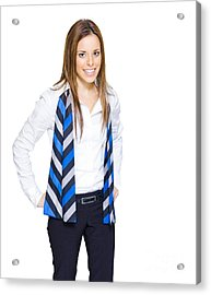 Confident Business Person With Smile Acrylic Print by Jorgo Photography - Wall Art Gallery