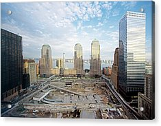 Construction At The Twin Towers Site Acrylic Print