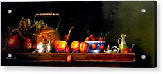 Acrylic Print featuring the painting Cornucopia 2 by Barry Williamson