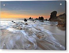 Corona Del Mar Sunrise Acrylic Print by Dung Ma