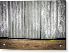 Corrugated Metal Acrylic Print by Tom Gowanlock