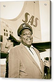 Count Basie 1950s Acrylic Print by Mountain Dreams