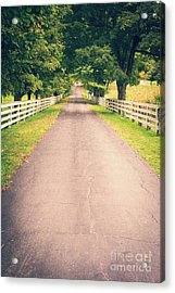 Country Back Roads Acrylic Print by Edward Fielding