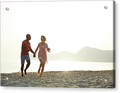 Couple Holding Hands Acrylic Print by Ruth Jenkinson
