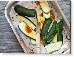 Courgettes Acrylic Print by Tom Gowanlock