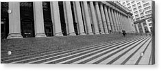 Courthouse Steps, Nyc, New York City Acrylic Print by Panoramic Images