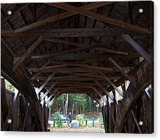 Covered Bridge Acrylic Print by Catherine Gagne