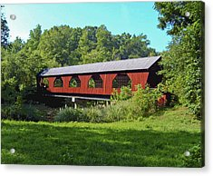 Covered Bridge Acrylic Print by Debra Crank