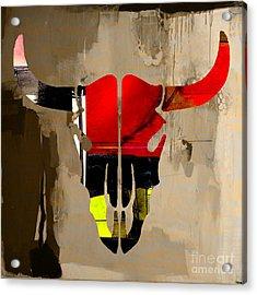Cow Skull Acrylic Print by Marvin Blaine