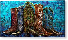 Cowgirl Boots Acrylic Print