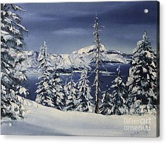 Crater Lake Acrylic Print by D L Gerring