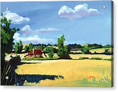 Crayke Farm North Yorkshire Acrylic Print by Neil McBride
