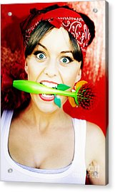 Crazy About Cleaning Acrylic Print by Jorgo Photography - Wall Art Gallery