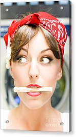 Crazy About House Work Acrylic Print by Jorgo Photography - Wall Art Gallery