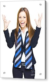 Crazy Business Person Acrylic Print
