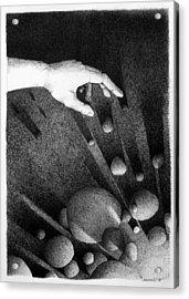 Acrylic Print featuring the drawing Creator  by Mariusz Zawadzki