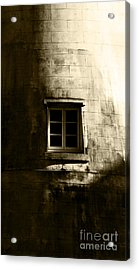 Creepy Windmill Window Acrylic Print