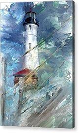 Crisp Point Lighthouse Michigan Acrylic Print