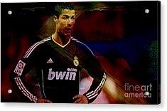 Cristiano Ronaldo Acrylic Print by Marvin Blaine