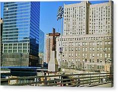 Cross At World Trade Towers Memorial Acrylic Print