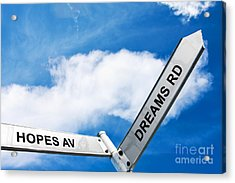 Crossroads Of Hopes And Dreams Acrylic Print by Jorgo Photography - Wall Art Gallery