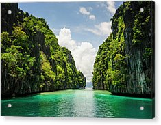 Crystal Clear Water In The Bacuit Acrylic Print