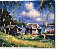 Cuban Fishing Village Acrylic Print