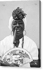 Cuban Lady Acrylic Print