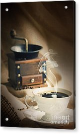 Cup Of Coffee Acrylic Print by Mythja  Photography