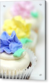 Cupcakes Shallow Depth Of Field Acrylic Print by Amy Cicconi