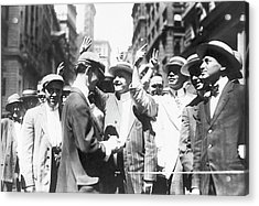 Curb Brokers Acrylic Print by Library Of Congress